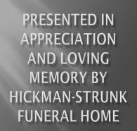 Hickman-Strunk Memorial Tribute 2017